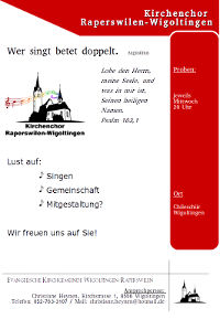 Flyer Kirchenchor