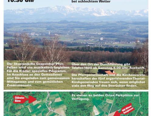 Regionaler Thurtal-Gottesdienst im Kirchenwald