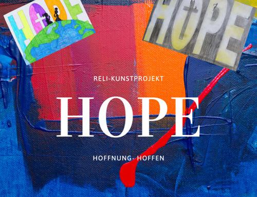 HOPE-Kunstprojekt der Reli-Schüler